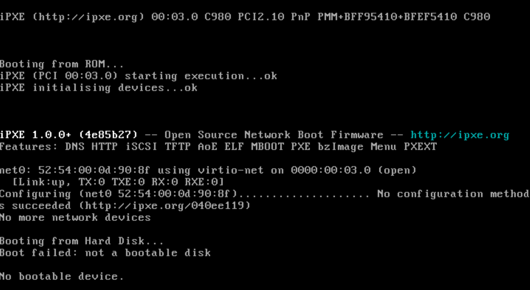 Race condition without handoff for proxy boot images against