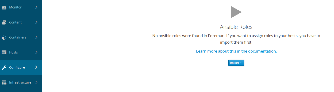 Can't import ansible roles - Support - TheForeman