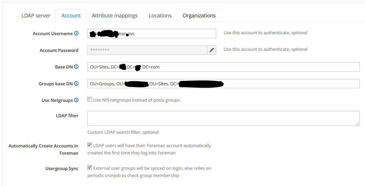 LDAP AD Authentication Issues - Support - TheForeman