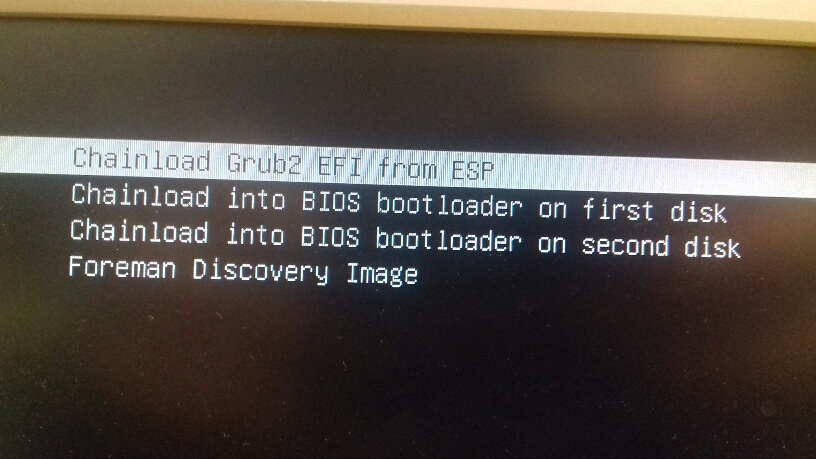 Grub2 network boot installation starts with dash character - Support